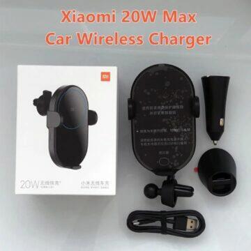 Bezdrátová nabíječka do auta Xiaomi Mi 20W Max balení