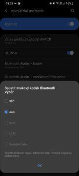 Bluetooth kodeky kvalita zvuku nabídk kodeků