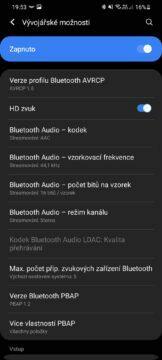 Bluetooth kodeky kvalita zvuku nabídka