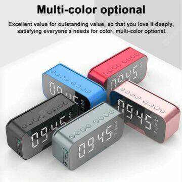 Budík s Bluetooth reproduktorem a rádiem barvy