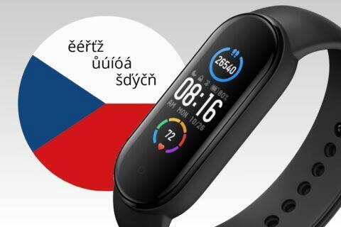 česká diakritika Xiaomi Mi Band 4 5