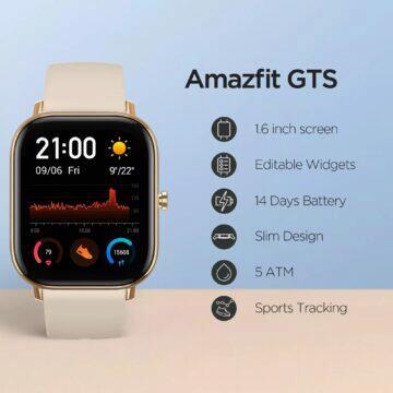 Globální verze hodinek Amazfit GTS parametry