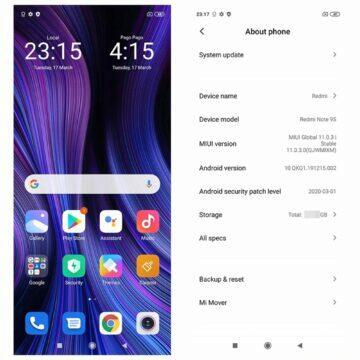 Globální verze Xiaomi Redmi Note 9S 6 128 GB parametry