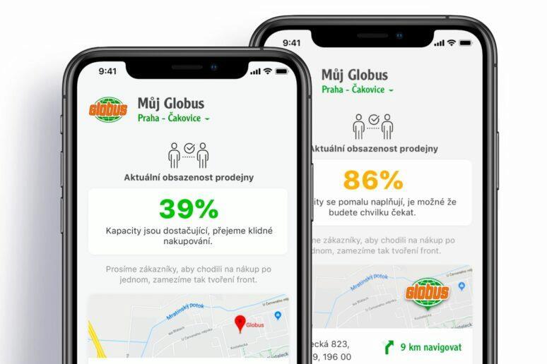 Globus kapacita obchodu v aplikaci