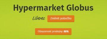 Globus kapacita obchodu v aplikaci Liberec