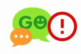 Go SMS Pro kritická chyba