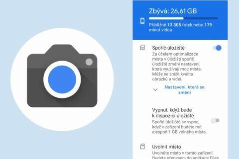 Google Fotoaparát ušetřit místo
