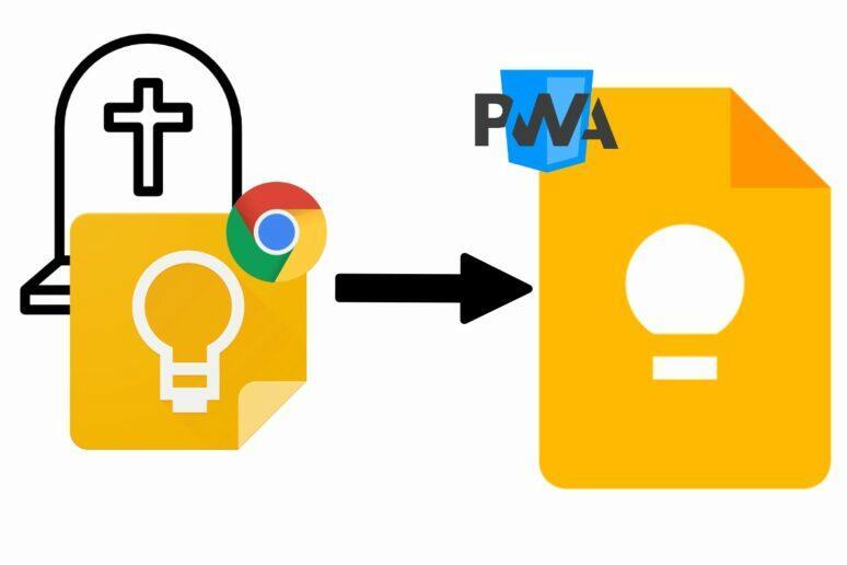 Google Keep Chrome aplikace