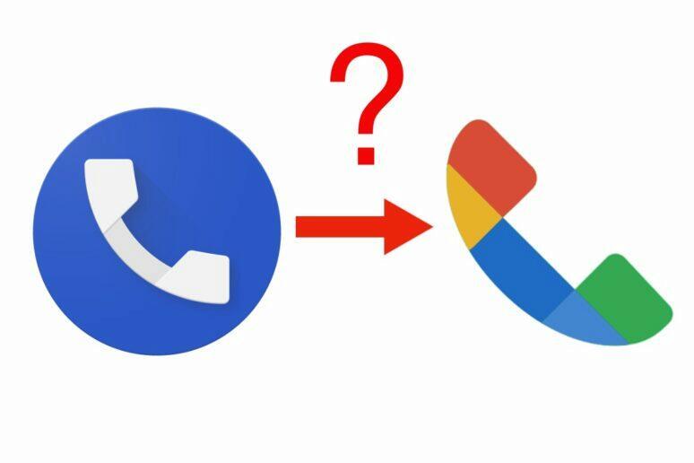 Google Telefon nové logo název