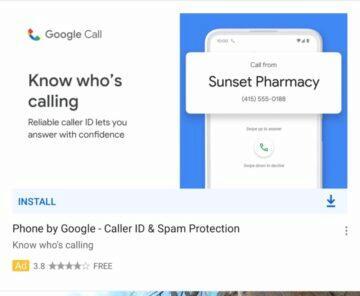 Google Telefon nové logo název - Google Call
