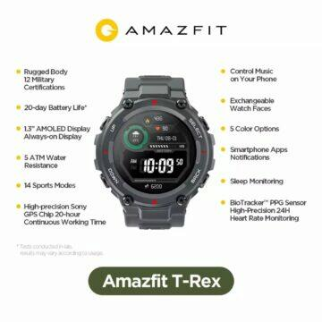 Hodinky Huami Amazfit T-Rex parametry