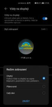 EMUI 11 Huawei Mate 40 Pro chytrý AOD EOD