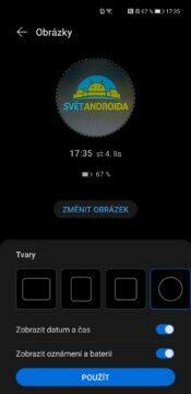 EMUI 11 Huawei Mate 40 Pro vlastní AOD