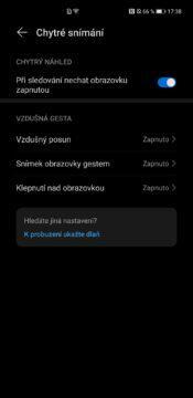 EMUI 11 Huawei Mate 40 Pro vzdušná gesta