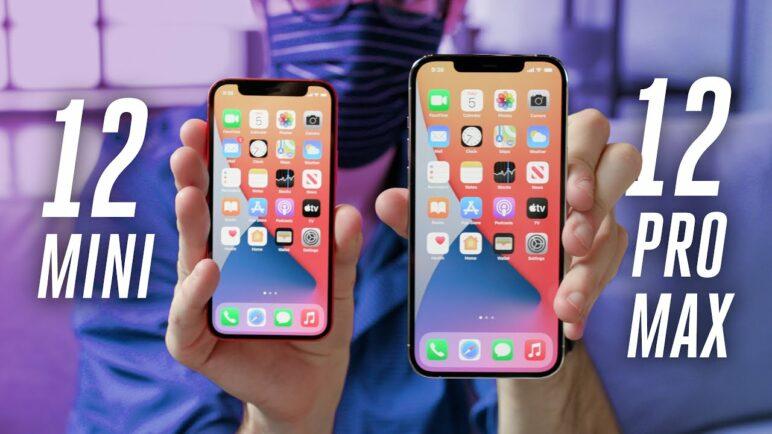 iPhone 12 mini vs 12 vs 12 Pro Max size comparison