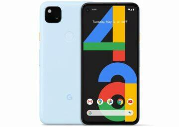 Pixel 4a nová barva cely telefon