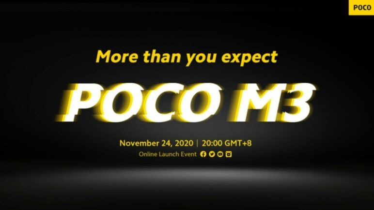 POCO M3 Online Launch Event
