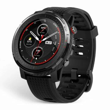 Porovnání Amazfit Stratos 3 a Honor Watch GS Pro Stratos 3 bok