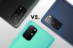 porovnání Samsung Galaxy S20 FE OnePlus 8T Xiaomi Mi 10T Pro