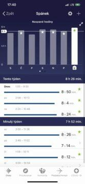 sledování spánku charge 4