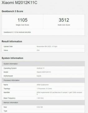 Snapdragon 875 Xiaomi