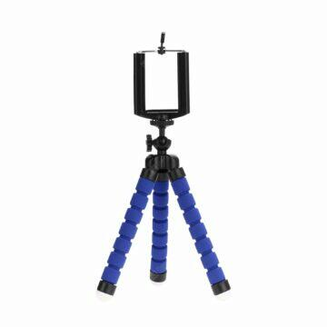 Budík s Bluetooth reproduktorem a rádiem Trojnožka stativ pro telefon modrá
