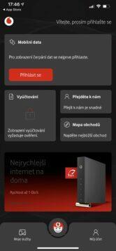 vodafone nový design aplikace