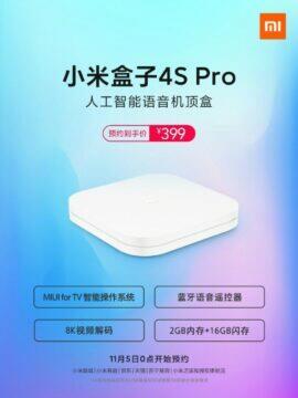 Xiaomi Mi Box 4S Pro oficiálně