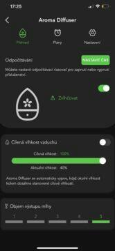 aplikace na zvlhčovač vocolinc