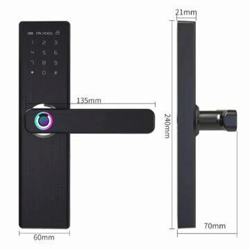 Chytrý zámek YOHEEN s biometrickým odemykáním rozměry