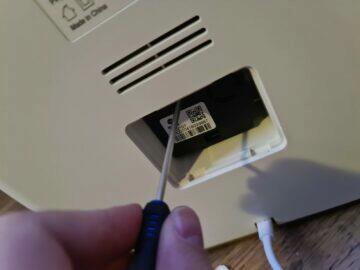 čištění senzoru demontáž