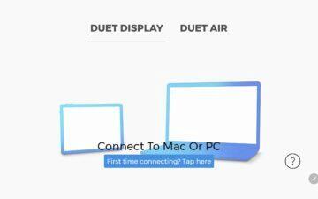 Duet Display Android aplikace výběr připojení