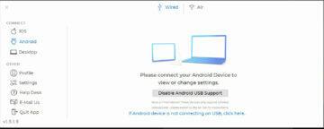 Duet Display Windows aplikace drátové připojení