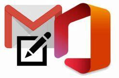 Gmail editace přílohy MS Office