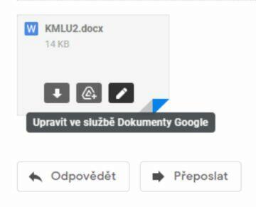 Gmail editace přílohy MS Office docx ukázka