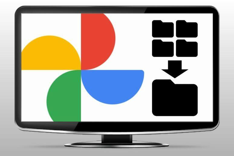 google fotky stažené složky