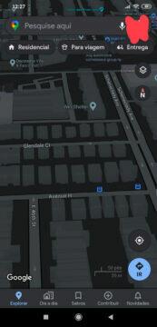 google mapy tmavý mód