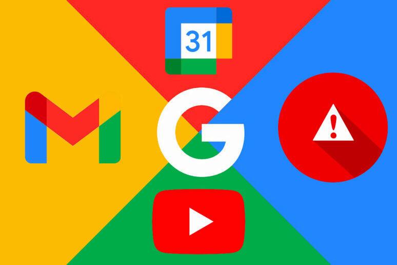 google výpadek