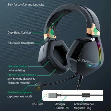 Herní sluchátka BlitzWolf BW-GH2 design