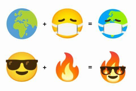 nové kombinace Emoji Kitchen