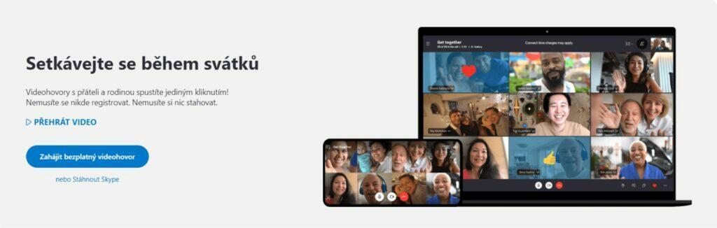 videochatování bez přihlášení Skype Schůzka Meet Now