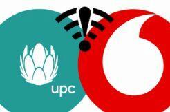 výpadek internetu Vodafone UPC
