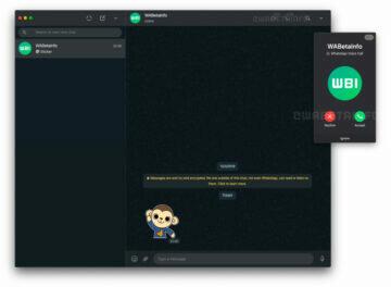 WhatsApp hovory PC