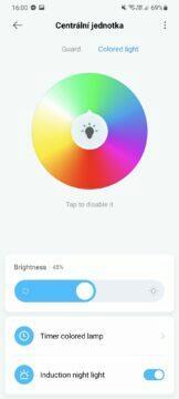 Xiaomi Home barva světla