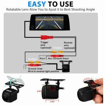herní sluchátka Blitzwolf BW-GH2 Zadní parkovací kamera XYCING rozměry zapojení