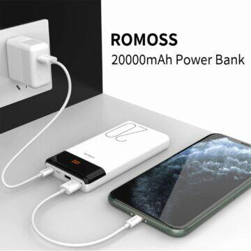 20000mAh powerbanka ROMOSS LT20