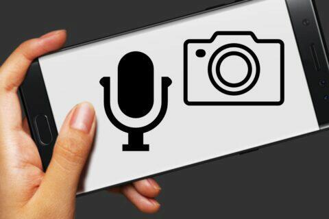 Android notifikace použití kamery mikrofonu
