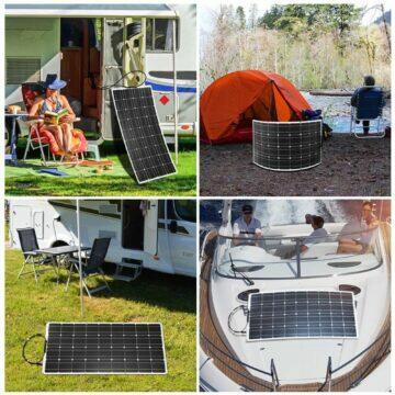 Cestovní solární panel Dokio využití