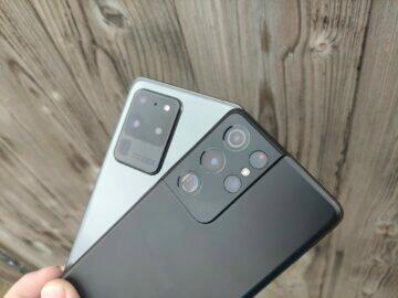 fotografování Samsung Galaxy S21 S20 Ultra fotoaparáty
