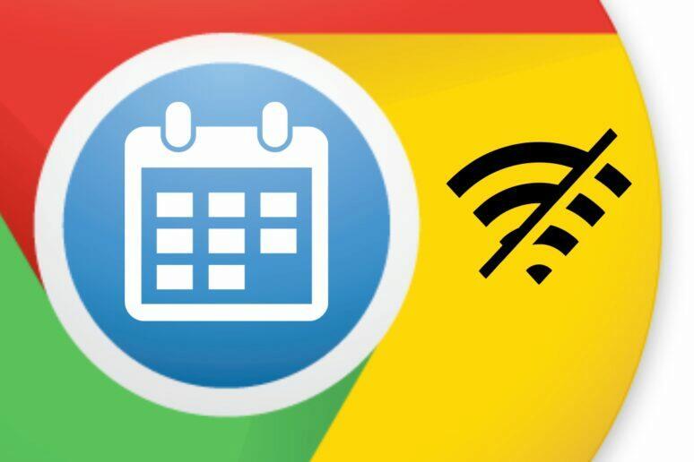 Google Kalendář desktopový offline mód